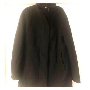 JCrew wool winter jacket black gold zipper